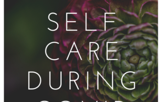 poster for self care during covid article
